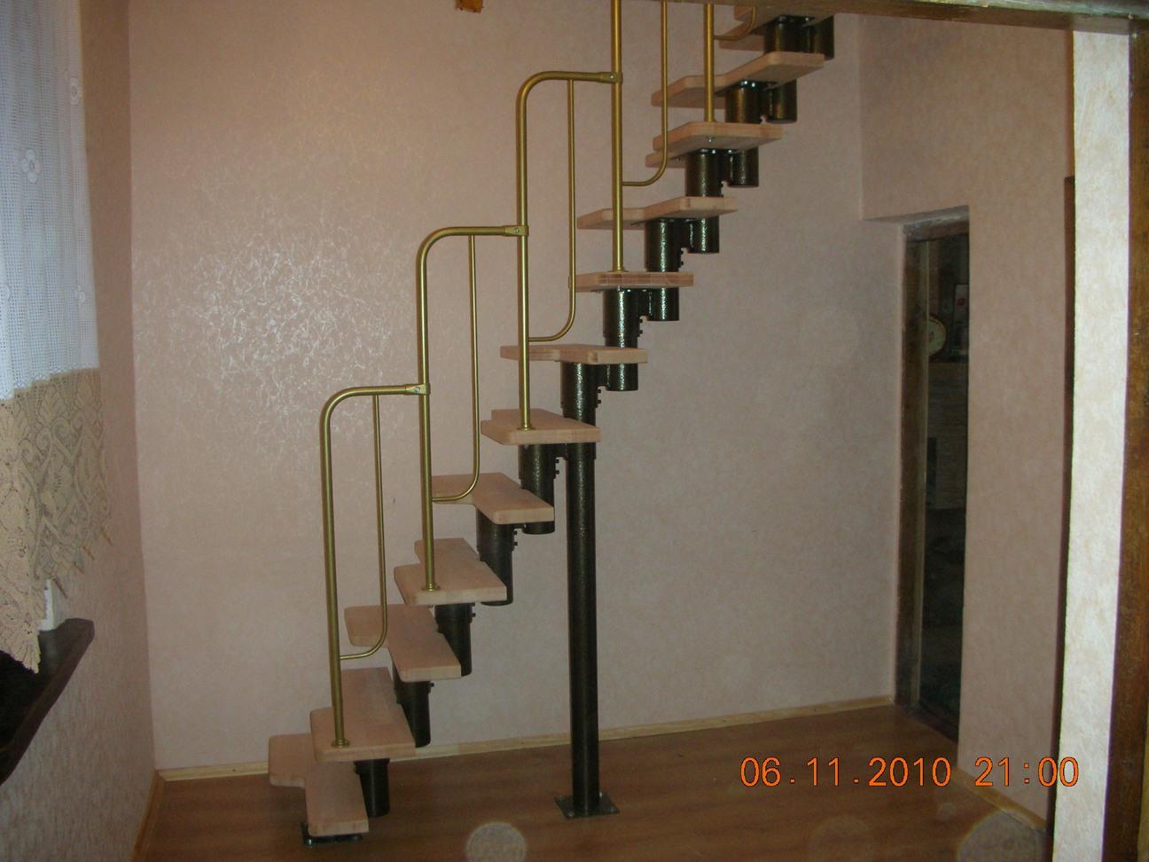 Лестница из металла на мансарду своими руками 77